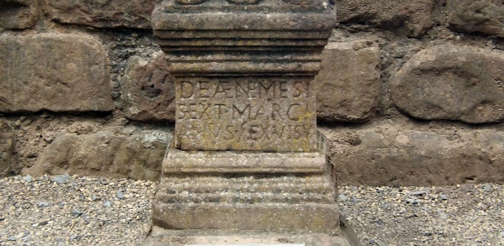 Roman altar to Nemesis at Chester amphitheater