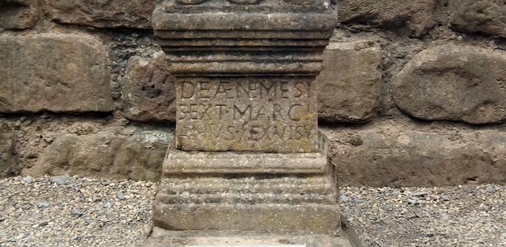 Roman altar to Nemesis at Chester amphitheater